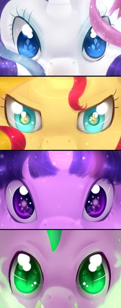 Elements of Harmony eye set part 2 Plus Spike by Neko-luvz on DeviantArt