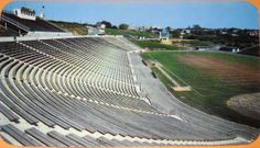 Allentown High School Stadium, 1950s, seating capacity 25,000. At the time it was built, it was one of the largest high school stadiums in the world.