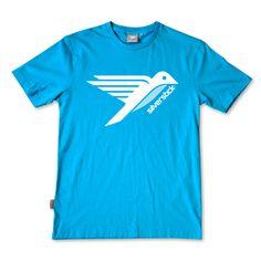 Silverstick Men Organic Cotton Original Logo Azure T Shirt