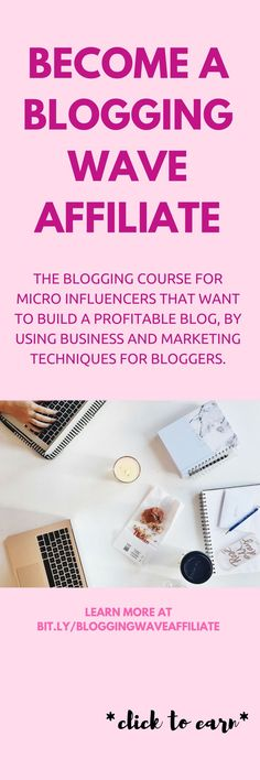 Want to learn how successful bloggers earn money? Here's how to build a profitable blog as a micro influencer. Become a course affiliate for Blogging Wave and earn 50% commission on every sale you generate and more offers, head to the site for more information to promote the best blog course out there! #BloggingWave #affiliate #affiliatemarketing #passiveincome #income #money #blogging #bloggers #blog #influencer #affiliates