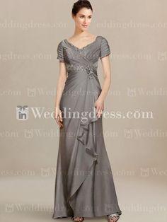 Modern Mother of Bride Dress with Cascade Skirt