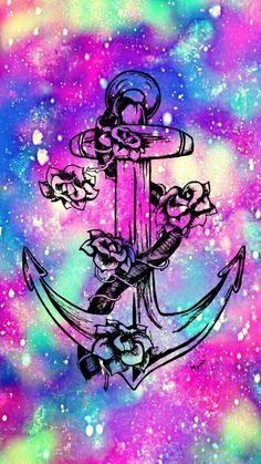 Flower Galaxy Anchor Wallpaper