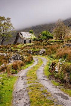"""bluepueblo: """"Abandoned, County Kerry, Ireland photo by paulbyrne """""""