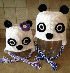 Crochet Panda Hats