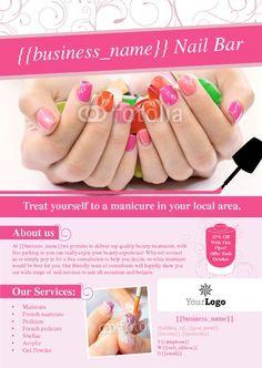 14 nail flyers ideas nail salon