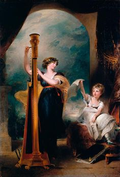 Caroline, Princess of Wales and princess Charlotte (Sir Thomas Lawrence, P.R.A. - ) 1801.  Caroline married the future George IV in 1795 but within a year the couple had separated and she set up a separate court in Blackheath, London. The acrimonious relationship beteen the Prince and Caroline dominated the Regency period.