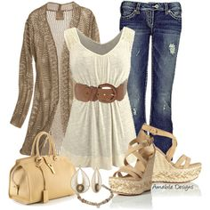 Beige time - Polyvore