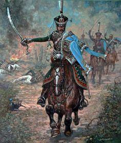 Russian hussars, 1812 campaign