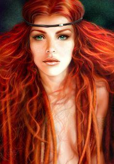 Boudica Celtic queen by ~quickreaver on deviantART 3d Fantasy, Fantasy Women, Scottish Women, Celtic Warriors, Female Warriors, Digital Art Gallery, Warrior Queen, Woman Warrior, Warrior Princess