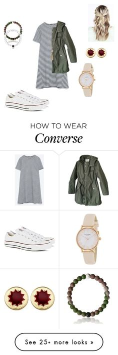 """""C"" for Converse"" by mduerr on Polyvore featuring Converse, Zara, Cheap Monday, Lucky Brand, Everest, House of Harlow 1960 and Kate Spade"