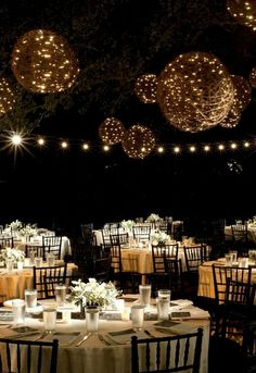 wedding lighting with string lights