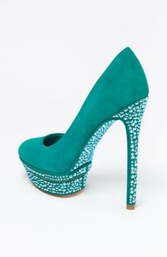 glitter pumps. I would love these in a nice candy red.
