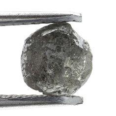 Genuine Diamond Rare Raw Rough Loose Diamond 1.53 Ct Silver GRay Color