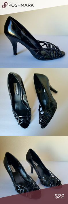 Steve Madden Peep Toe Shoes Patent Leather  10 Steve MaddenWomen Shoes Black Patent Leather Peep Toe Pumps Size 10   Type:Shoes  Style:Peep toe  Brand:Steve Madden  Material:Patent Leather  Color:Black  Size:10 Steve Madden Shoes Heels