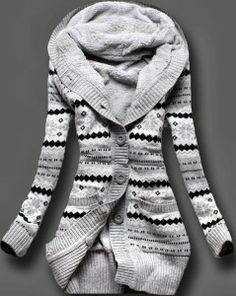 Amazing Full Sleeves Norwegian Style Cardigan