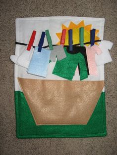 Laundry Line - Finished Quiet Book - Tidbits