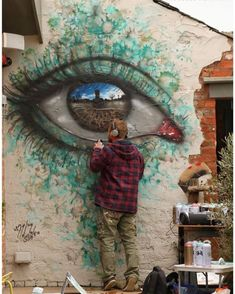 Street art graffiti - Artist Leaves His Paintings For People To Find After Getting Rejected By Art Galleries – Street art graffiti 3d Street Art, Street Art Graffiti, Murals Street Art, Urban Street Art, Amazing Street Art, Mural Art, Street Artists, Amazing Art, Graffiti Artists