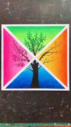 Oil Pastel Drawings Easy, Oil Pastel Art, Oil Pastels, Simple Canvas Paintings, Diy Canvas Art, Crayon Canvas Art, Art Drawings Beautiful, Art Drawings For Kids, Ed Wallpaper