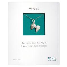 Sterling Silver Large Angel Wings Pendant Necklace by Lily Charmed Angel Wing Necklace, Angel Wing Pendant, Angel Wings, Sterling Silver Jewelry, Jewelry Design, Lily, Charmed, Pendant Necklace, Drop Earrings