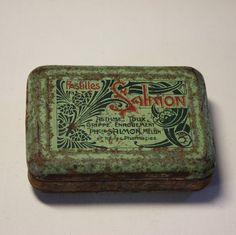French vintage Apothecary TIN BOX