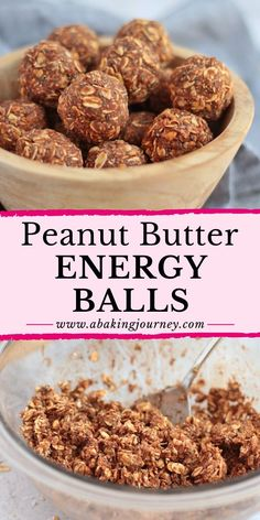 These Refined-Sugar Free, Gluten-Free and Vegan Chocolate Peanut Butter Energy Balls make the most delicious and healthy snacks - both for you and the kids! Peanut Butter Energy Balls Recipe, Healthy Energy Ball Recipe, Peanut Butter Dessert Recipes, Healthy Peanut Butter, Healthy Dessert Recipes, Healthy Baking, Snack Recipes, Snacks Ideas, Healthier Desserts
