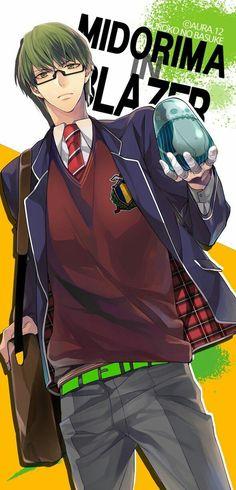 Midorima Shintarou - Kuroko no Basuke - Image - Zerochan Anime Image Board Cute Anime Boy, Anime Love, Anime Guys, Kuroko No Basket Characters, Midorima Shintarou, Japanese Cartoon, Kuroko's Basketball, Haikyuu Anime, Doujinshi