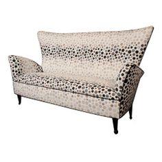 Sculptural High Back Petite Sofa