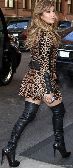 JLo Leopard Street Style