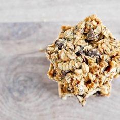 5 Ingredient Peanut Butter Granola Bars Recipe Use the rice malt syrup for a sugar free option.