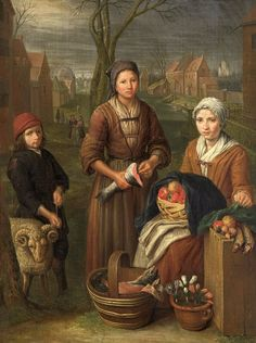 The Tradeswoman by Peter Snijers (1681-1752)