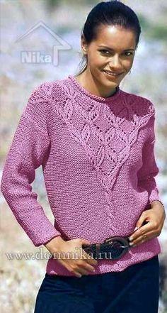 Kötött pulóver csipke igát