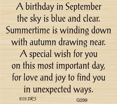 September Birthday Greeting - DRS Designs