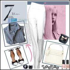 Return to the Office by ana-angela on Polyvore featuring moda, Givenchy, Valentino, Bare Escentuals, Bobbi Brown Cosmetics and GE