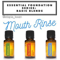 My essential foundation series is a great way to learn how to use DoTERRA's top 10 oils as part of your daily routine. This next blend is an excellent way to swap out your mouthwash for a cost efficient natural mouth rinse to help support oral health. Ingredients: 2 cups warm filtered water 2 teaspoons salt 4 drops On Guard 3 drops Melaleuca 4 drops Peppermint Mix the salt and warm water in a glass container. Add your essential oils, and shake to combine. You can use this at home, or take...