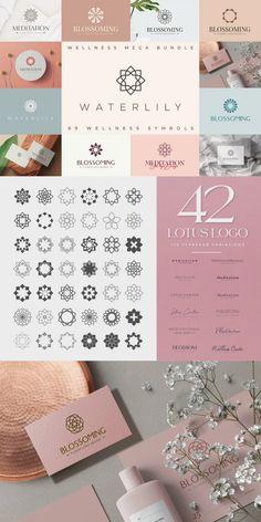 27 Flower Logo Template Bundle. PDF Manual guides and tutorials included #AffiliateLink Logo Design Template, Logo Templates, Lotus Logo, Flower Logo, Manual, Lily, Pdf, Tutorials, Symbols