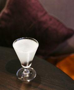Luca's Aviation, Quo Vadis, London. [50ml gin, 20ml lemon juice, 15ml maraschino liqueur, Three dashes violet liqueur]