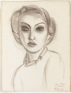 Henri Matisse - Dorothy Paley - 1936 - Charcoal on paper  I look at this and see a young Rose.