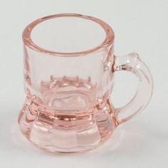 1920's Pink Depression Glass Beer Mug Shot Glass