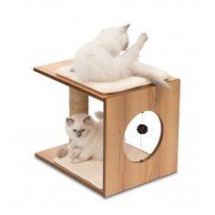 Cats - Modern Cat Furniture - Sleek Cat Furniture - Easy To Clean Cat Furniture - Best Cat Tree Without Carpet Ideas - Cool Cat Tree Plans Vesper Cat Furniture, Pet Furniture, Cat Tree Condo, Cat Condo, Cat Tree Plans, Cool Cat Trees, Wood Cat, Cat Scratcher, Cat Room