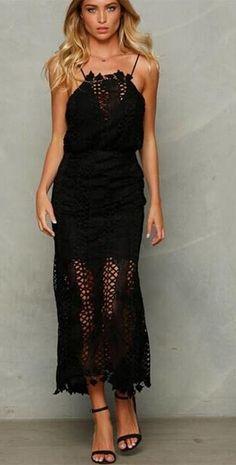 Vestido Midi Tecido Vazado - Compre Online | DMS Boutique