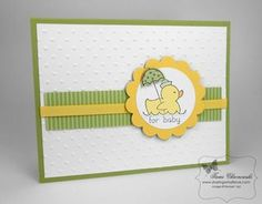 Simple baby card, Certainly Celery, Daffodil Delight, Easy Events
