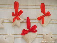 """Magic dough"" stars for christmas deco"