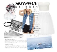 """""""Girlgang 🐚☁"""" by muffins96 ❤ liked on Polyvore featuring Forever New, Ballet Beautiful, adidas Originals and Wight"""