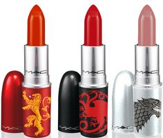 Game of Thrones for MAC lipsticks