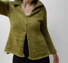 yellow wall cardi... I hate knitting top-down sweaters, but looking at all the versions of this on Ravelry, I would suffer through to get this sweater. It's such a solid wardrobe component.