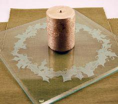 Engraved Glass Centerpiece