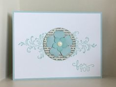 Timeless Textures stamp set flourish with punched flowers using the Pansy and Petite Petals punches - created by Julia Jordan