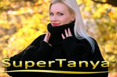 Made to order hand knitted wool sweater in black by supertanya