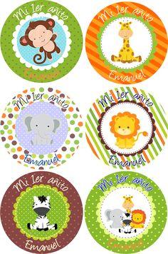 valen Lion Birthday, Jungle Theme Birthday, Animal Birthday, Jungle Party, Safari Party, 1 Year Old Birthday Party, Boys 1st Birthday Party Ideas, Baby Shower Cupcakes, Baby Boy Shower