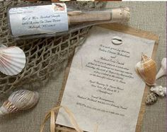 cruise ship wedding invite message in a bottle